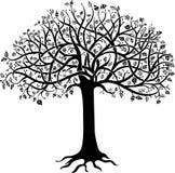 Árbol negro stock de ilustración