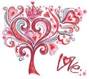Árbol original del amor. Fotos de archivo libres de regalías