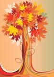 Árbol otoñal abstracto stock de ilustración