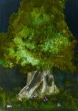 Árbol que camina en la noche Imágenes de archivo libres de regalías
