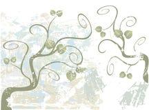 Árbol que remolina de Grunge Foto de archivo