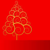 Árbol rizado en rojo Imágenes de archivo libres de regalías