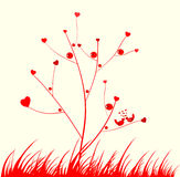 Árbol rojo Fotos de archivo libres de regalías