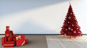 Árbol rojo de los cristmas Fotografía de archivo libre de regalías