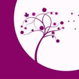 Árbol rosado en el viento Imagenes de archivo