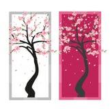 Árbol Sakura del vector Imagen de archivo