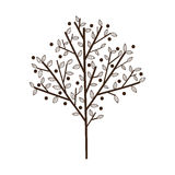 Árbol simple con las hojas Foto de archivo libre de regalías
