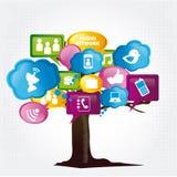 Árbol social Imagen de archivo libre de regalías