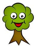 Árbol sonriente de la cara de la historieta Imágenes de archivo libres de regalías
