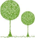 Árbol verde abstracto Fotografía de archivo