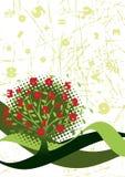 Árbol verde de la contabilidad ilustración del vector