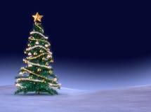árbol verde de los cristmas ilustración del vector