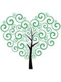 Árbol verde del amor Fotografía de archivo