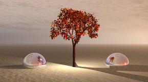 Árbol y bolas libre illustration
