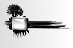 Árbol y botón del vector Fotos de archivo
