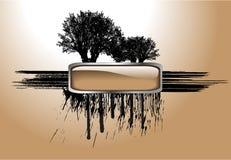 Árbol y botón del vector Foto de archivo
