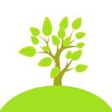 Árbol y colina ilustración del vector