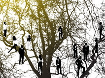Árbol y gente Fotografía de archivo