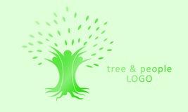 Árbol y gente (proyecto del logotipo) Fotografía de archivo libre de regalías