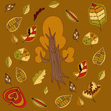 Árbol y hojas Fotos de archivo libres de regalías