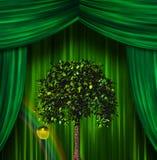Árbol y manzana ilustración del vector