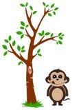 Árbol y mono stock de ilustración