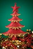 Árbol y oro rojos Fotos de archivo libres de regalías