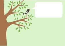 Árbol y pequeño pájaro Foto de archivo libre de regalías