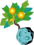 Árbol y planeta stock de ilustración