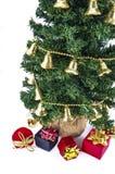 Árbol y regalos de Noel Fotos de archivo