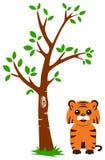 Árbol y tigre Foto de archivo
