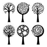 Árboles adornados Imágenes de archivo libres de regalías