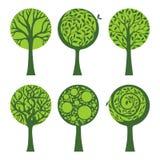 Árboles adornados del duotone stock de ilustración