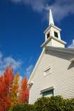 Árboles coloreados iglesia de Steppled imágenes de archivo libres de regalías
