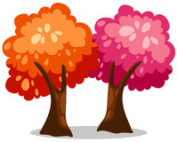 Árboles coloridos Imagen de archivo