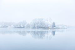 Árboles congelados del puerto en el Nieuwe Meer Fotografía de archivo libre de regalías