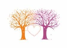 Árboles de amor Foto de archivo libre de regalías