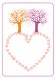 Árboles de amor Foto de archivo