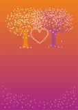 Árboles de amor Fotos de archivo