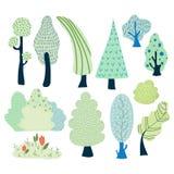 árboles de la historieta del vector ilustración del vector