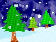 Árboles de navidad ilustración del vector