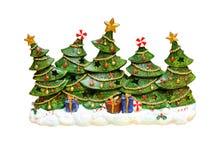 Árboles de navidad Fotos de archivo libres de regalías