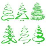 Árboles de navidad fotografía de archivo