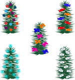 Árboles de navidad stock de ilustración