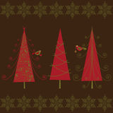 Árboles de navidad Imágenes de archivo libres de regalías