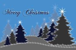 Árboles de navidad azules y grises Foto de archivo