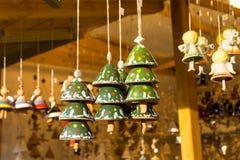 Árboles de navidad - campanas de la arcilla Fotografía de archivo