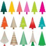 Árboles de navidad coloreados Fotos de archivo libres de regalías