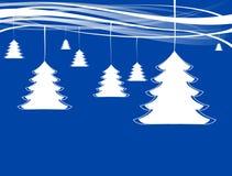 Árboles de navidad con las cintas Imágenes de archivo libres de regalías