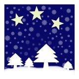 árboles de navidad con las estrellas Imágenes de archivo libres de regalías